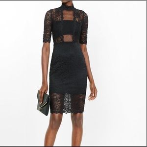 NWT Express mock neck sheath dress